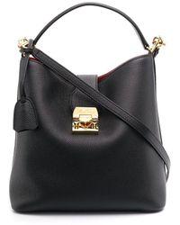 Mark Cross Murphy Pebbled Bucket Bag - Black