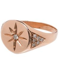 Jacquie Aiche Перстень Из Розового Золота - Розовый