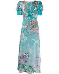 Saloni - Robe imprimée à fleurs - Lyst