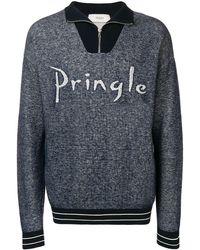 Pringle of Scotland ファンネルネック スウェットシャツ - グレー