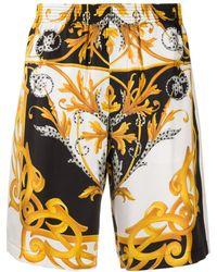 Versace バロックプリント ショートパンツ - ホワイト