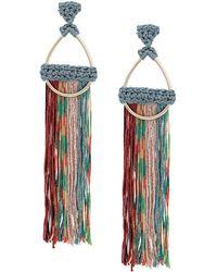Missoni Tassel Hoop Earrings - Metallic