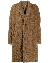 Neil Barrett Shearling Button Coat - Brown