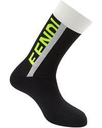 Fendi ロゴ靴下 - マルチカラー