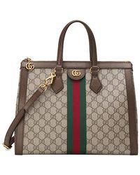 Gucci - Ophidia Gg Medium Top Handle Bag - Lyst
