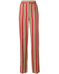Etro - High-waisted Striped Trousers - Lyst