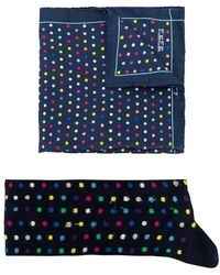 Fefe - Polka Dot Socks And Pocket Square Set - Lyst