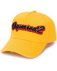 DSquared² Logo-embroidered Baseball Cap - Yellow