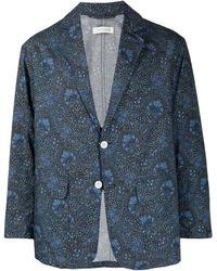 Mackintosh リバティプリント ジャケット - ブルー