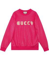 Gucci - Guccy Print Sweatshirt - Lyst