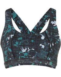 Sweaty Betty Sport-bh Met Camouflageprint - Blauw