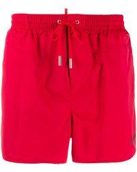 DSquared² Short de bain classique - Rouge