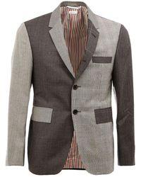 Thom Browne ノッチラペル テーラードジャケット - グレー