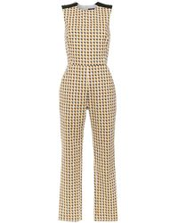 Andrea Marques Printed Jumpsuit - White