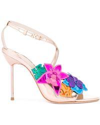 Sophia Webster Floral Metallic Sandalen - Meerkleurig