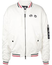 Haculla Embroidered Bomber Jacket - White