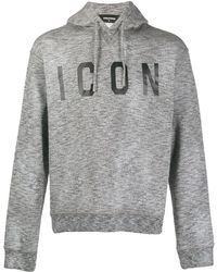 DSquared² Icon プリント パーカー - グレー