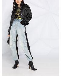 Just Cavalli サテン ボンバージャケット - ブラック