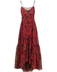 Faith Connexion Zebra Print Maxi Dress - Red