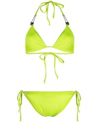 Philipp Plein Embellished Signature Bikini - Green