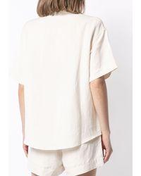 GOODIOUS Linen Short-sleeved Camp Shirt - White