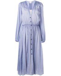 Forte Forte - Buttoned V-neck Dress - Lyst
