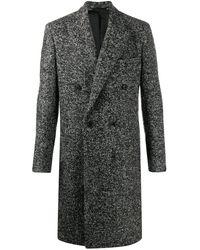 Paul Smith Melange double-breasted coat - Grau
