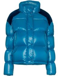 Moncler - Chouette Feather Down And Velvet Puffer Jacket - Lyst