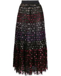 Temperley London Rainbow スパンコール ミディスカート - ブラック