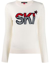 Perfect Moment Ski インターシャ セーター - ホワイト