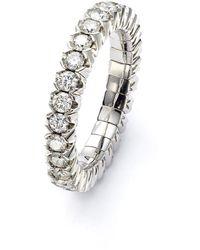 Mattioli 18kt White Gold Diamond Elastic Eternity Ring - Metallic