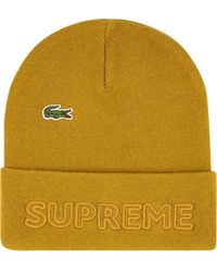Supreme X Lacoste knitted beanie - Mettallic