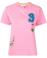 Mira Mikati T-Shirt mit Golfstickerei - Pink