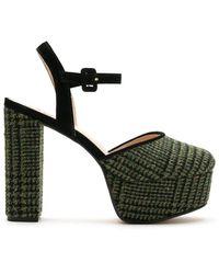 EVA Sandales à plateforme - Vert