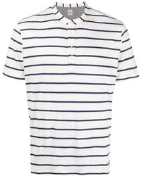 Eleventy ストライプ リネンtシャツ - ホワイト