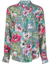 Junya Watanabe Floral Print Shirt - Meerkleurig