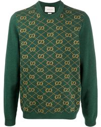 Gucci Trui Met GG Jacquard - Groen