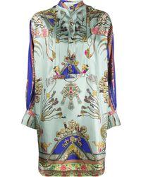 Etro Платье-рубашка С Принтом - Синий