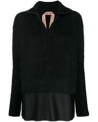 N°21 Sweater Met Gelaagde Afwerking - Zwart