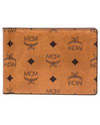 MCM Кошелек С Зажимом Для Банкнот И Монограммой - Коричневый