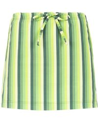 Amir Slama Striped Swimsuit - Зеленый