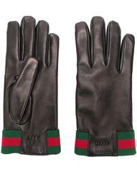Gucci レザー手袋 - ブラック