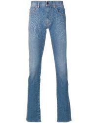 Etro - Printed Slim Leg Jeans - Lyst