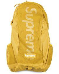 Supreme Box Logo Backpack - Yellow