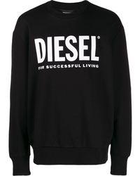 DIESEL ロゴ スウェットシャツ - ブラック