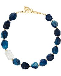 Brinker & Eliza Anna Stone Necklace - Blue