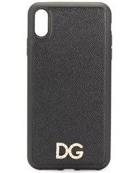 Dolce & Gabbana Coque d'iPhone X à logo - Noir