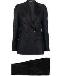 Tagliatore ピンストライプ ダブルスーツ - ブラック