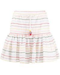 Zimmermann Zinnia ストライプ スカート - ホワイト