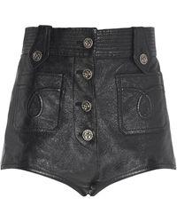 Miu Miu High-waisted Short Shorts - Black